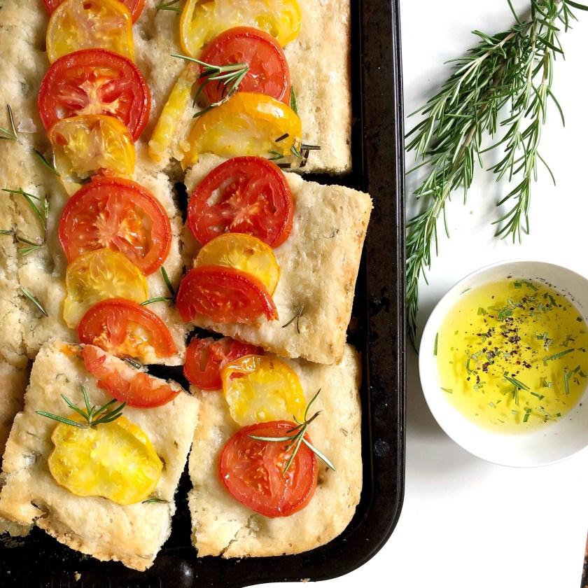 Summer Tomato & Rosemary Focaccia