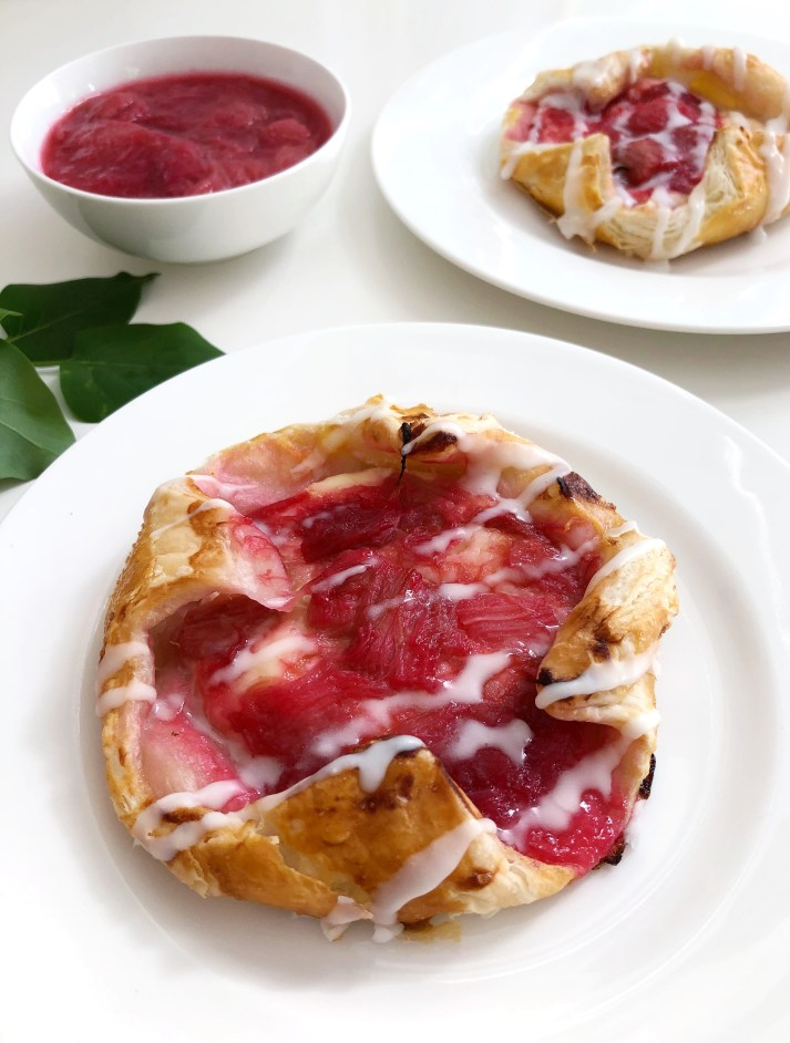 Rhubarb and Cream Cheese Danish - Season and Serve Blog