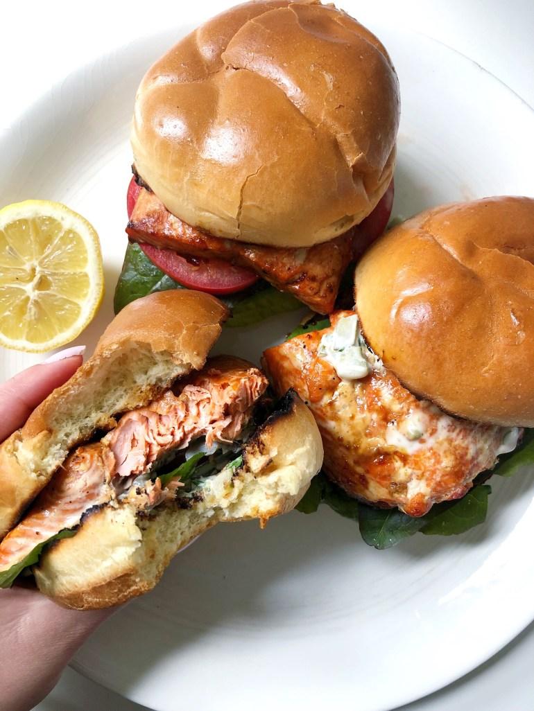 Cedar Plank Salmon Burgers - Season and Serve Blog