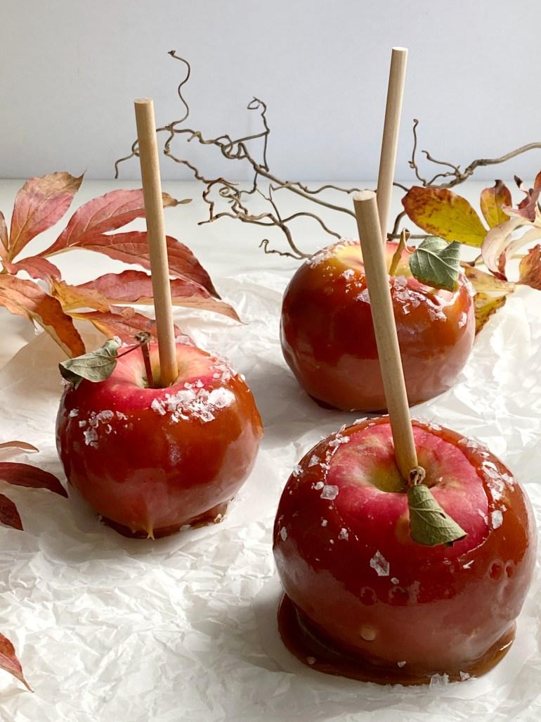 Salted Caramel Apples - Season & Serve Blog