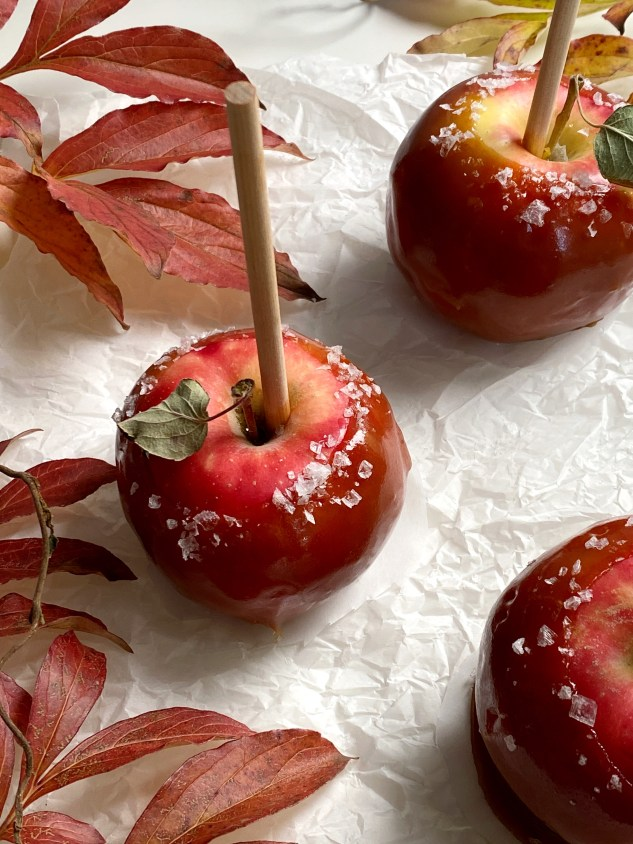 Salted Caramel Apples - Season & Serve Blog