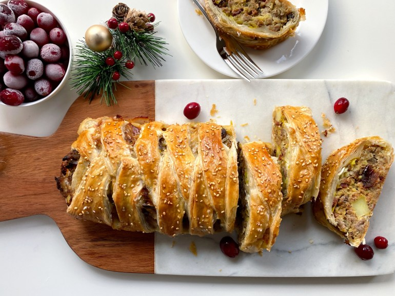 Turkey-Cranberry Holiday Strudel - Season and Serve Blog
