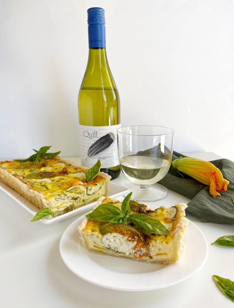 Zucchini Flower & Ricotta Tart - Season & Serve Blog