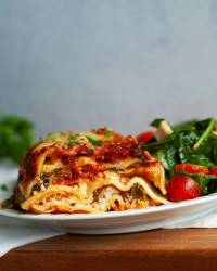 Classic Gluten-free Lasagne with Spinach & Mushrooms
