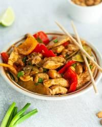 healthy cashew chicken & vegetables