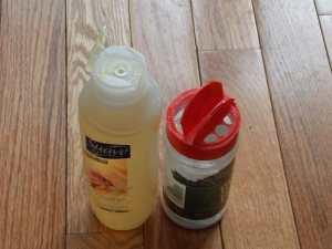 shower bottles