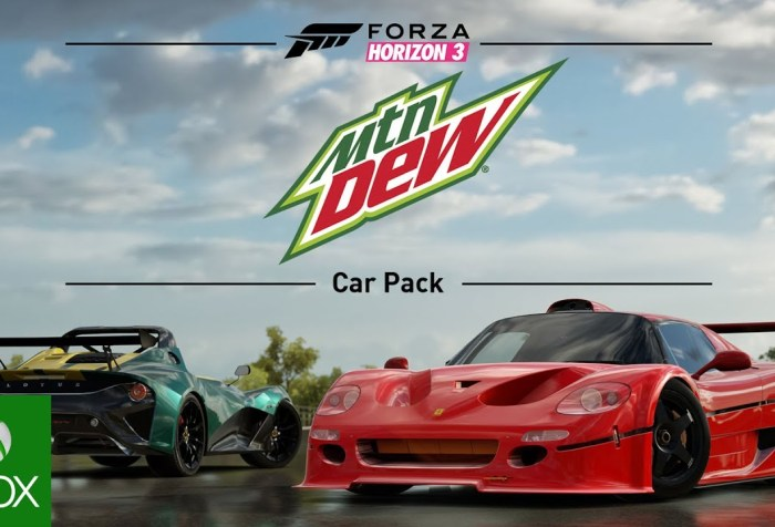 Forza Horizon 3 Mountain Dew Car Pack Trailer