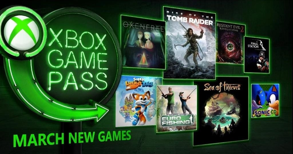 Sea of Thieves and Rise of the Tomb Raider Highlight Game Pass in March