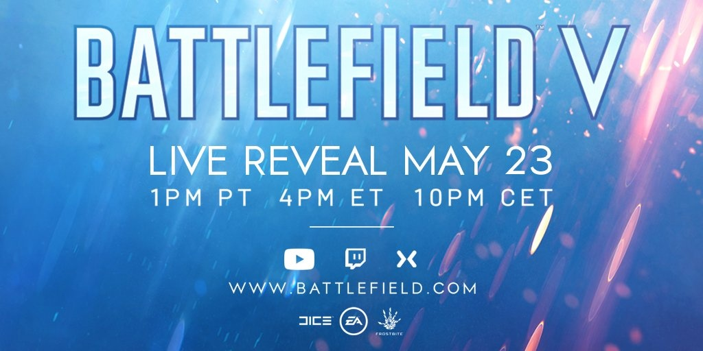 Battlefield V Reveal Event Announced for May 23rd