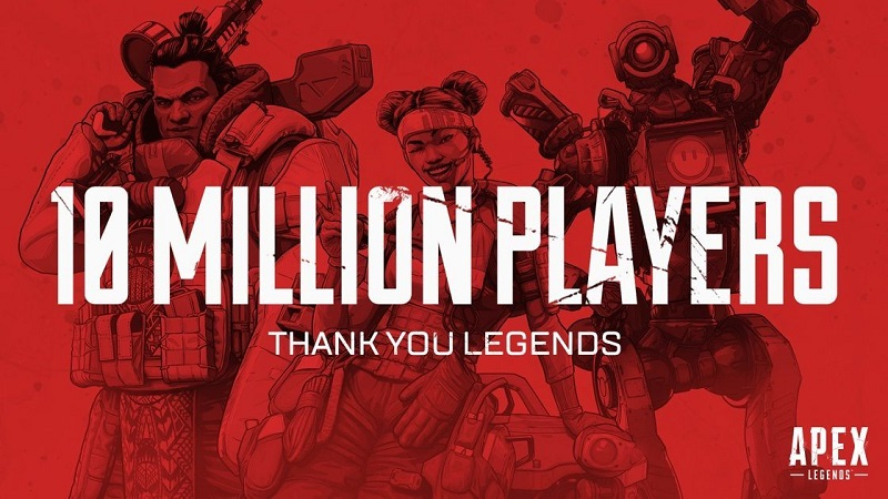 Apex Legends Tops 10 Million Players in Less than 72 Hours