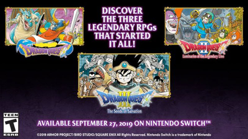 Dragon Quest 1-3 coming this month on Switch