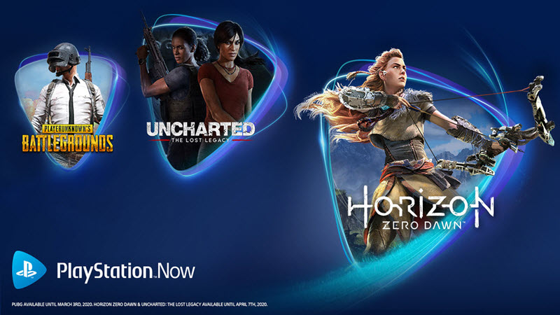 PS Now Adds Horizon Zero Dawn and Uncharted The Lost Legacy in January