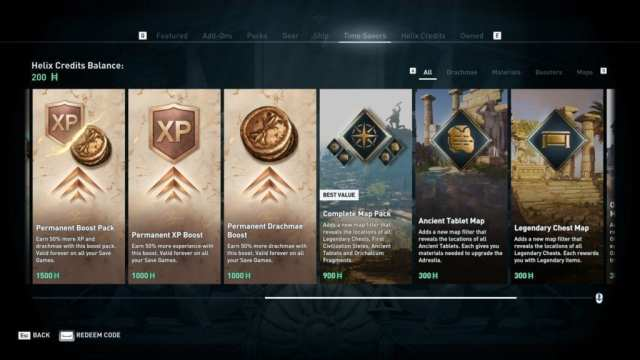 Assassins-Creed-Odyssey-Microtransactions-Time-Savers-EXP-Drachmae-Maps