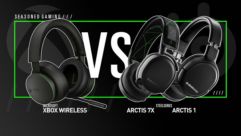 Xbox Wireless Headset Comparison (Official Xbox, SteelSeries Arctis 7x and Arctis 1)