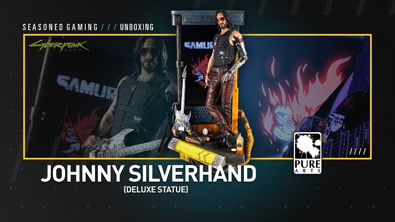 Unboxing : Johnny Silverhand Deluxe Statue from Pure Arts