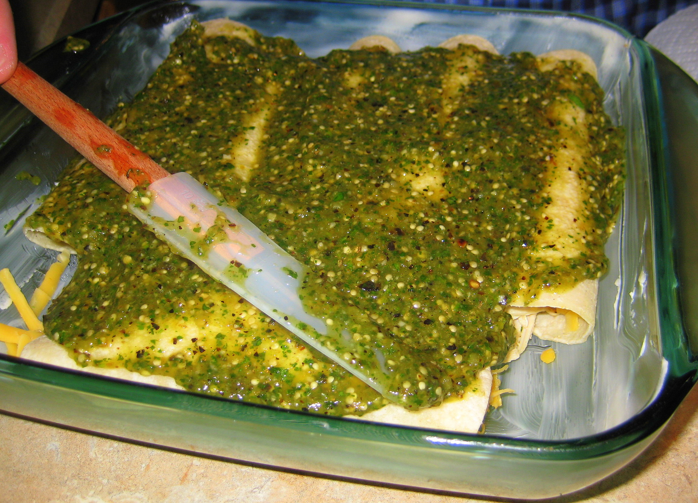 Don't use store-bought green sauce!
