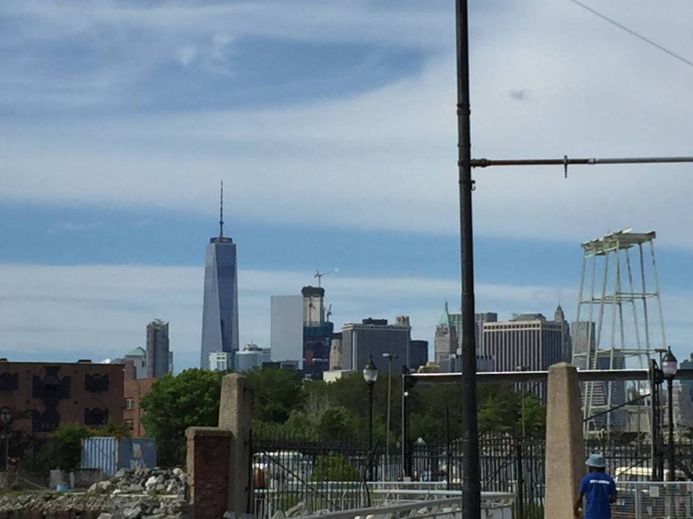 View of downtown Manhattan from Hometown BBQ in Brooklyn