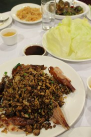 diced duckling meat saute