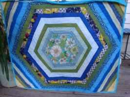 My first hexagon quilt
