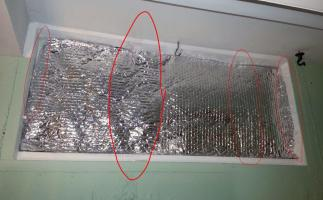 Bubble wrap: a cheap way to insulate drafty windows