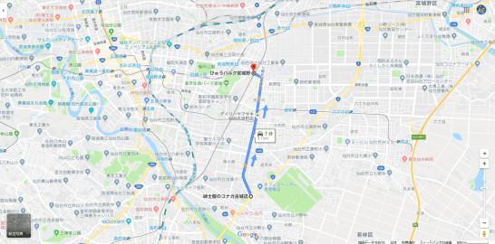 2019.8.15 お盆の朝の小雨の宮城の萩大通り