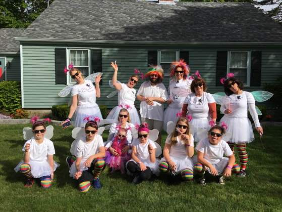 Seasons of Smiles and families--pre color run.