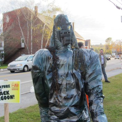 Hamilton Marine put this sea monster together to enter into the contest for best scarecrow.