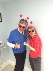 Dr. and Mrs. Medina Yucking it up. Red Nose Day 2016