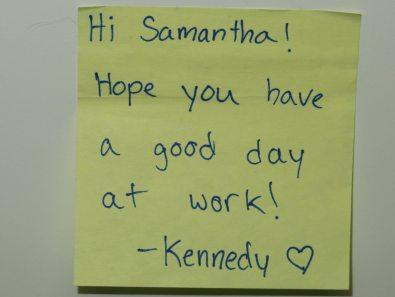 Samantha's Note