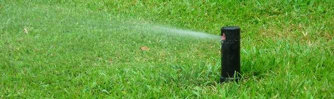 Sprinkler installed on Outer Banks home