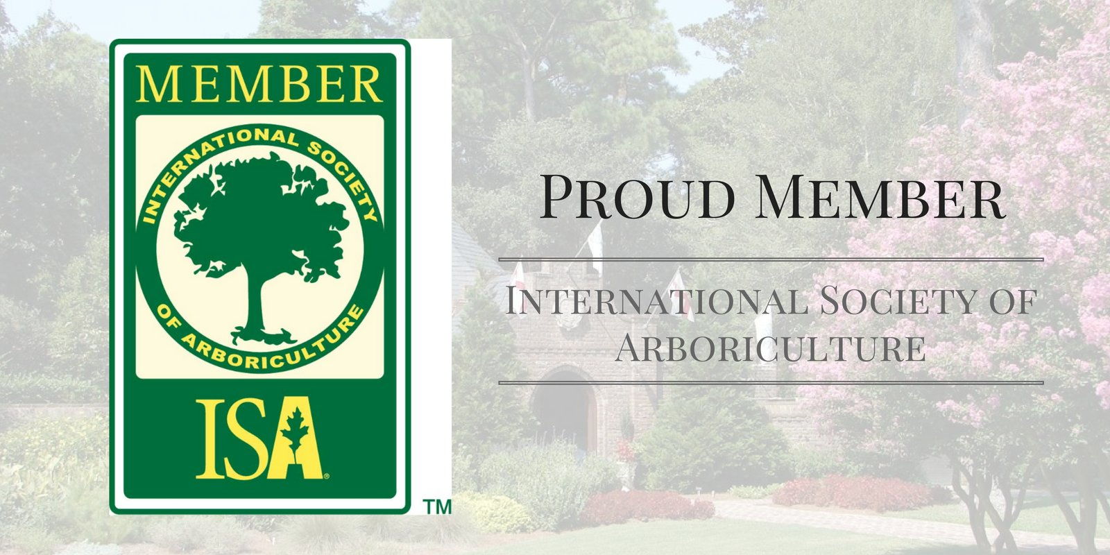 Four Seasons Landscaping proud member of international society of arboriculture