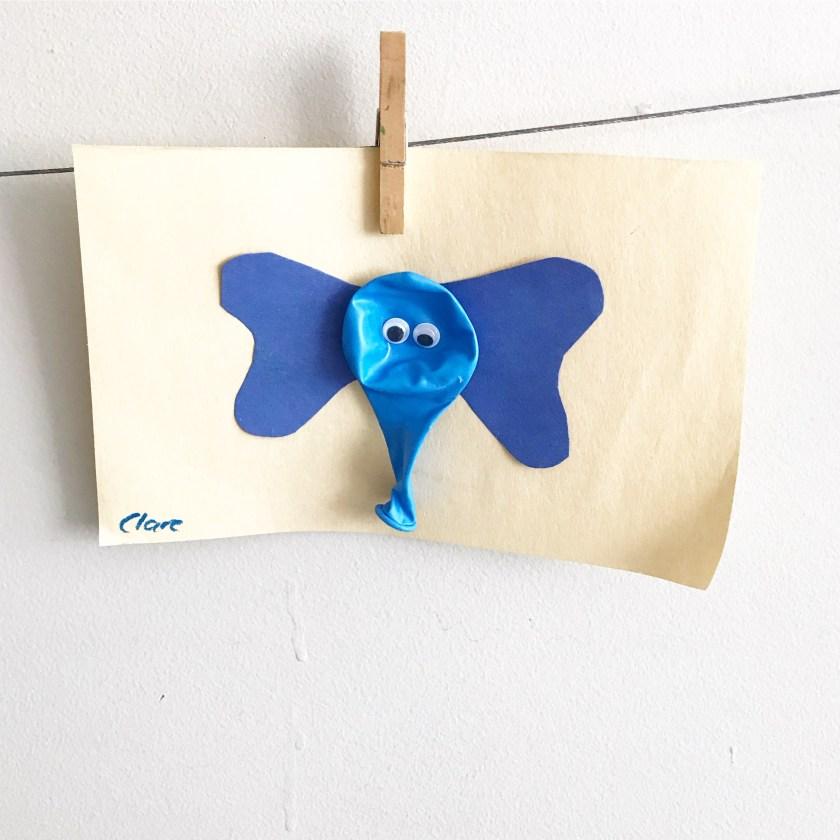 Blue balloon elephant