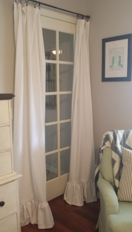 guest room curtain after ruffles