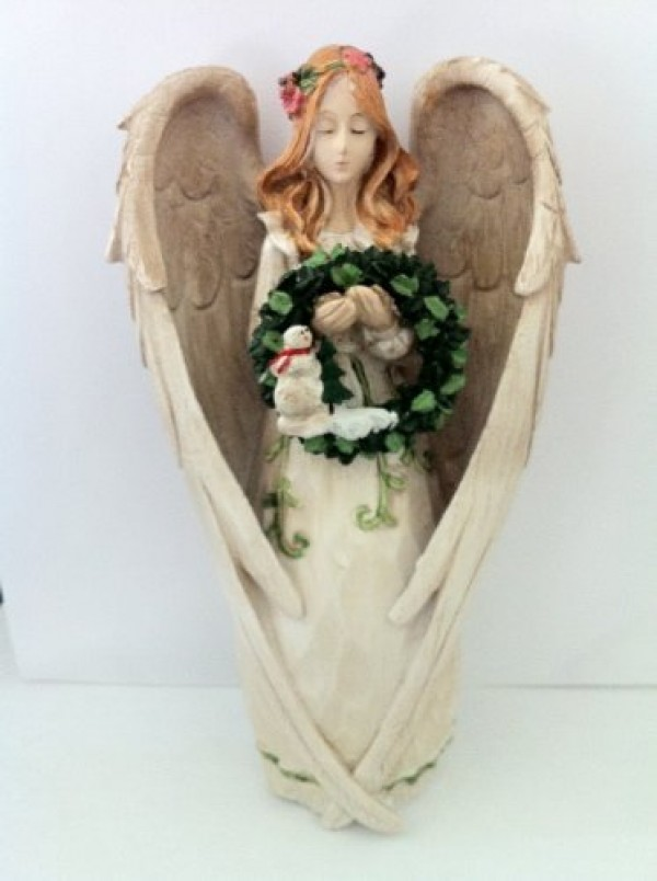 Angel Figurine With 5 Seasonal Wreaths Wreaths Amp Garland