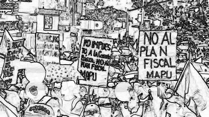 Empleados públicos protestan contra el plan fiscal