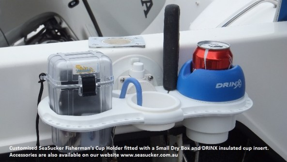 SeaSucker Fisherman's Cup Holder in boat