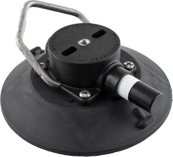 152 mm SeaSucker Black Vacuum Mount with handle