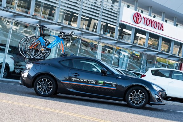 Airport Toyota / Avanti Racing Toyota 86 fitted with SeaSucker Mini Bomber and two Flight Decks