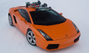 SeaSucker Ski Rack on Lamborghini