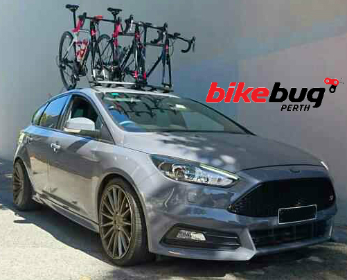 BikeBug Perth Ford Focus ST Bike Rack - The SeaSucker Bomber