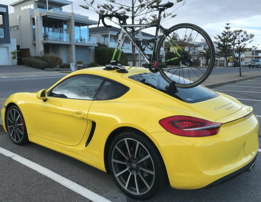 Porsche Cayman S 981 Bike Rack - The SeaSucker Talon