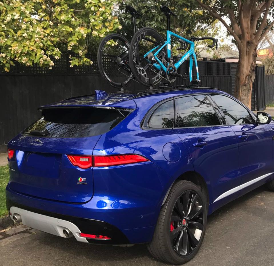 Jaguar F-Pace Bike Rack - The SeaSucker Mini Bomber