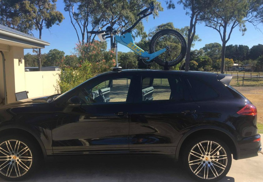 Porsche Cayenne Bike Rack - The SeaSucker Mini Bomber