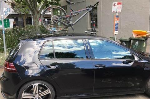 VW Golf R Bike Rack