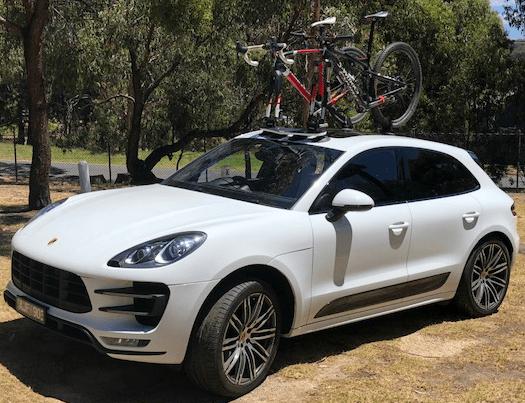 Porsche Macan Bike Rack - The SeaSucker Mini Bomber 2-Bike Rack