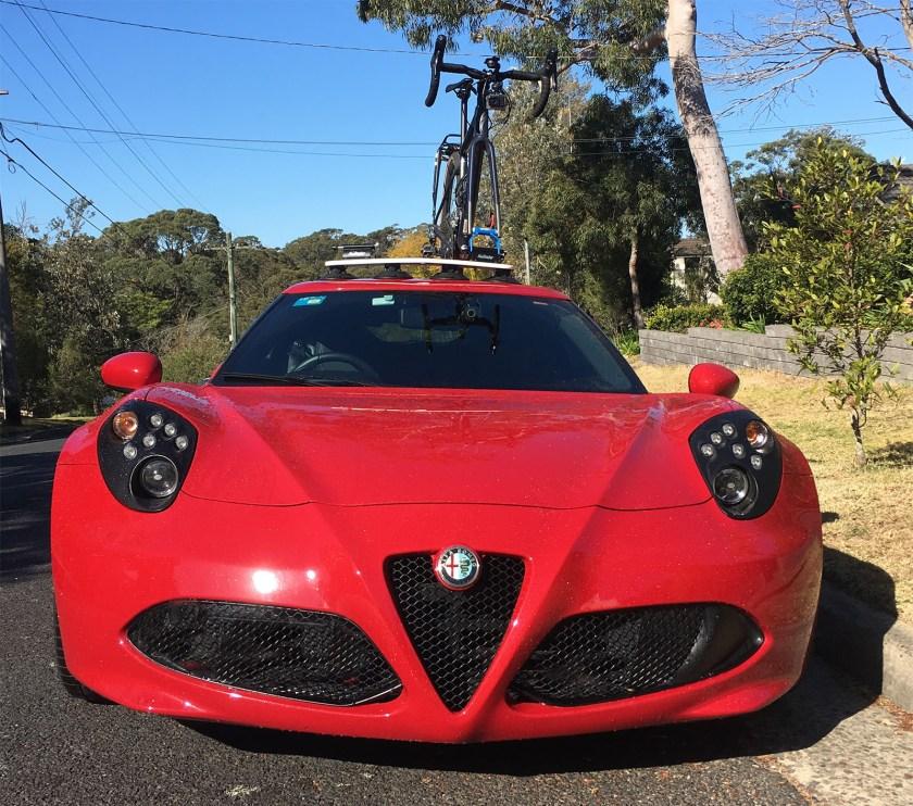 Alfa Romeo 4C Bike Rack - SeaSucker Mini Bomber