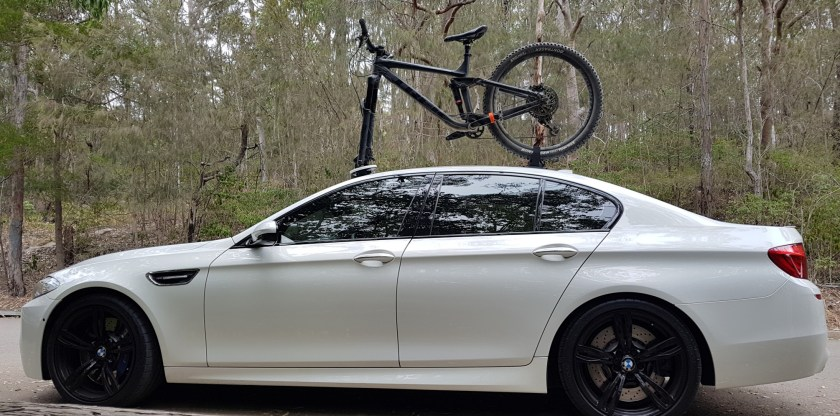 BMW M5 Bike Rack - The SeaSucker Bomber