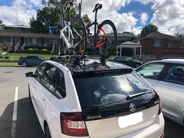 Skoda Rapid Spaceback Bike Rack - the SeaSucker Mini Bomber