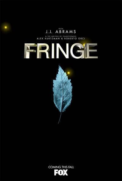 One of the strange posters for Fringe, displaying an isoceles triangle inside a leaf