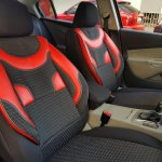 Car Seat Covers Protectors Bmw X4 F26 Black Red V1 Front Seats